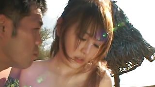 Sweet busty MOMO and boyfriend have sex