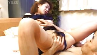 Extraordinary lady with huge tits loves sucking on her boyfriend's nipples