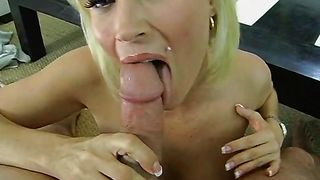 Mouthwatering busty minx Diamond Foxxx blows then gets fucked hard