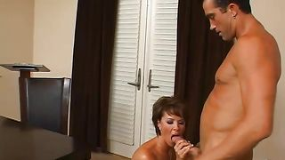 Astounding maid Kayla Synz with great tits is having sex like crazy and enjoying every second