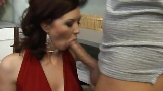Amazing Felony Foreplay with big tits spread her legs wide open and lifted them high to get fucked