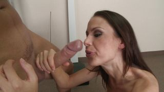 Astounding McKenzie Lee with great tits took off her clothes and started riding buddy's big sausage