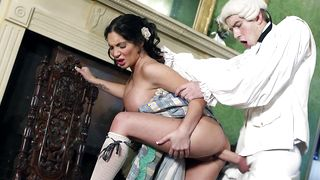 Captivating Emily B with massive tits fucked like a hot mess