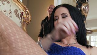 Wonderful Jayden Jaymes with round tits is sucking sausage like a pro and enjoying it a lot