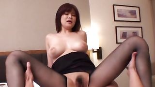 Alluring girlfriend Ramu Hoshino with large tits receives a firm banging