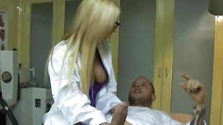 Fascinating blonde Amy Ried with round natural tits bounces on stiff sausage like a good girl