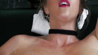 Delicious busty blonde Samantha Saint gives expert head to a thick dink