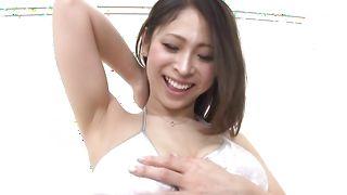 Ravishing babe Minami Ayase with curvy tits likes being doggy styled