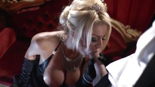 Racy busty Tia Layne sucks chopper to make it hard enough for fucking