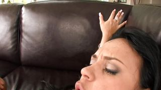 Hot brunette Mariah Milano with impressive tits gets fucked hard in different positions