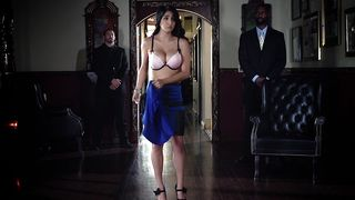 Engaging latin beauty Megan Salinas with great natural tits enjoys being smashed hard by fellow