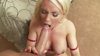 Cheerful busty beauty Diamond Foxxx and pussy tester like to have wild sex in front of the camera