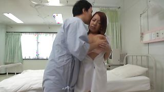Busty Iyona Kawai is enchanting and enjoys sucking a huge cock