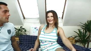 Dishy brunette Myra Lyon with firm tits loves riding fuckmate