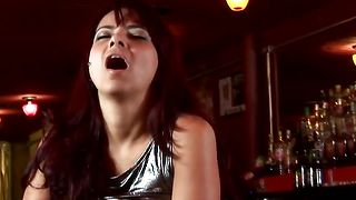 Prurient latin redhead floosy Carmen Dias with round tits gets a huge electrifying orgasm