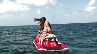 Classy brunette Krystal Main with curvy tits enjoys a prick ride