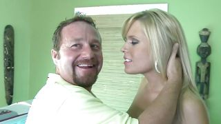 Astonishing busty Darcy Tyler is having casual sex with lover although she does not know his name