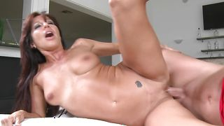 Astonishing babe Tara Holiday with large tits lets pal fuck her brains out in the middle of the day