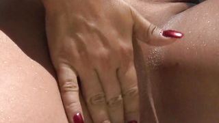 Frisky gal Julianna with impressive tits takes it deep