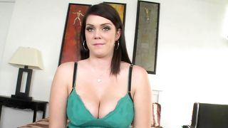 Sensual busty Alison Tyler gives one hot blowjob