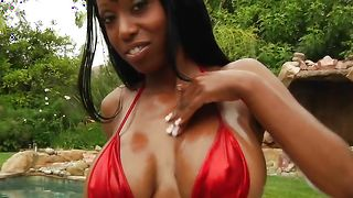 Rough doggystyle hammering for luxurious ebony Codi Bryant with firm tits