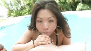 Passionate idol Mia Rider with round tits has her perky tits fondled and squeezed
