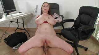 Marvelous busty girlfriend Desiree is getting fucked in a doggy style position just for fun