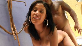 Playsome latin beauty Surya Menezes with round tits is having the best sex in the last few years