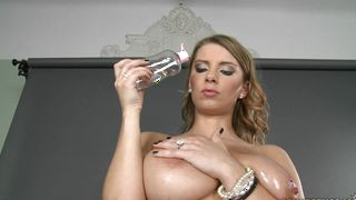 Mesmerizing busty Katerina is often sucking boyfriend's donga while he is making a video of her
