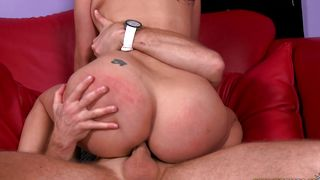 Spicy busty latin babe Natallia gets destroyed by horny stud