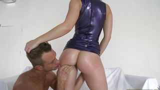 Heavenly Remy La Croix with big tits enjoys being punished by buddy