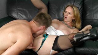 Long love rocket makes dissolute busty hottie Danielle go crazy while riding it