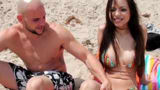 Pretty latin woman Yurizan Beltran with massive tits is getting fucked in the middle of the day and enjoying it a lot