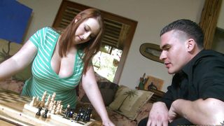 Heavenly busty blonde Felicia Clover is sucking a rock hard stick like a real pro every single time
