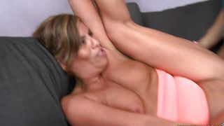 Playsome Bella Spice with big tits get a rough nailing session for her juicy muff
