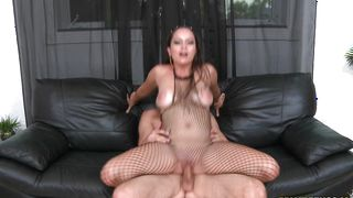 Appetizing latin Katallina with firm tits lets a hunk pick her up and fuck her