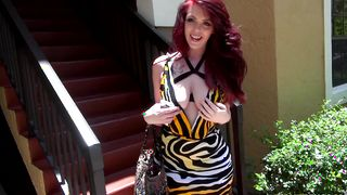 Redhead sweetheart Ryan Smiles with firm tits is salacious and ready for some hot action