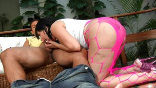 Worshipped Soraya Carioca with large tits and a fellow went inside the house to make love