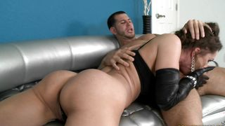 Enchanting maiden Nora Noir with impressive tits gets intensely penetrated and she loves it
