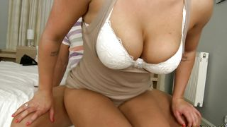 Kinky brunette Amy Wild with large tits works hard cock in her premium gash