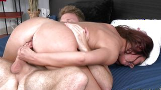 Lascivious Esmeralda Payne with big tits wants to be a pro but first she has to get fucked hard
