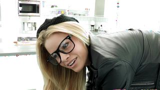 Fascinating busty maiden Jessa Rhodes got down and dirty with a lad whom she liked a lot