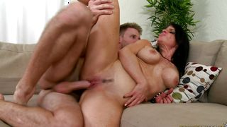 Astonishing Jade Steele with firm tits receives an intense spooning