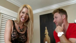 Wicked busty blonde Desi Dalton goes to parties only to find someone to fuck