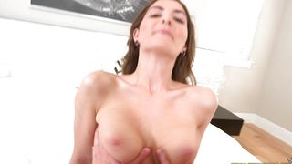 Lustful perfection Molly Jane with impressive tits skillfully rides a hard fuck stick