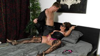 Gorgeous brunette sweetie Madisin Lee with curvy tits gets deeply plowed by a lad