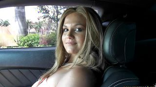 Aroused busty bimbo Dani Blake loves having her wet love tube eaten by playmate