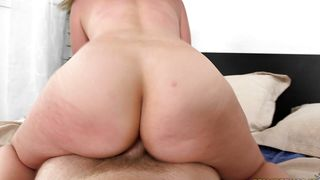 Swingeing hottie Kayla West with curvy tits shows her perfect bum before being doggy styled