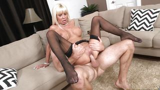 Ambitious blonde sweetie Kasey Storm with impressive tits is desperate for a giant lovestick
