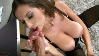 Amazing brunette Sensual Jane with round tits is ready for some extremely interesting pounding